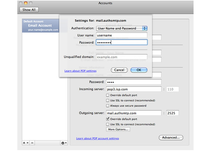 How To Fix 550 Relay Not Permitted In Outlook Express On OS X