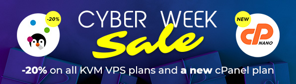 Cyber Deals - 20% off on all KVM servers