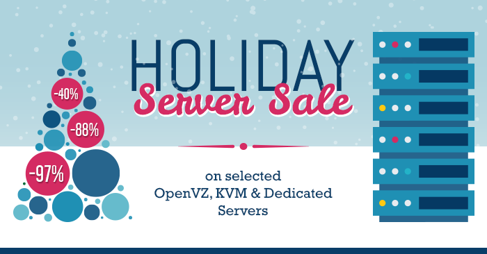 Holiday Server Sale on OpenVZ, VPS & dedicated servers