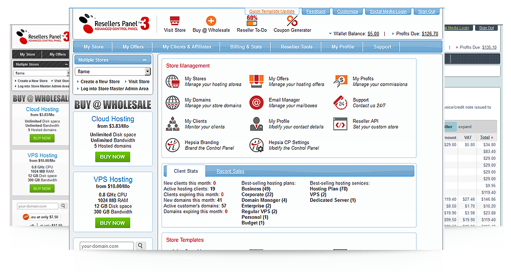 Reseller Control Panel